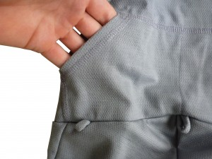 Back pockets of the merino wool bib