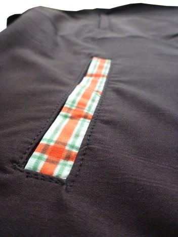 Black shorts pocket detail